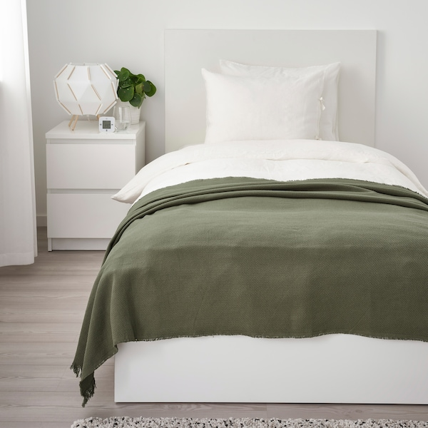 IKEA bedroom furnishings, blankets and throws