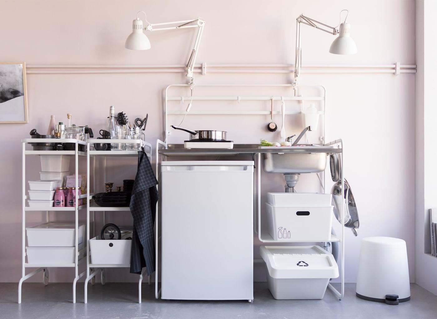 Mini Kühlschrank Ikea : Miniküche für kleine geldbeutel ikea