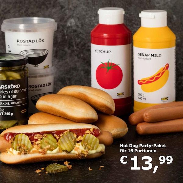 IKEA Bistro Hot Dog Partypaket
