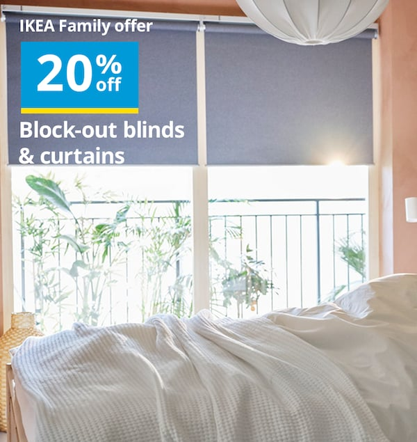 IKEA block out curtains and blinds sale clearance
