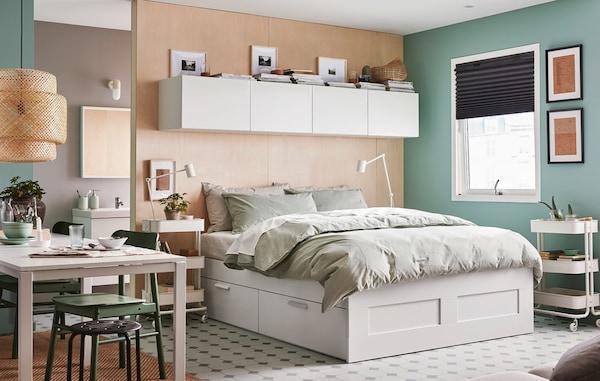 IKEA BRIMNES bed met opbergruimte