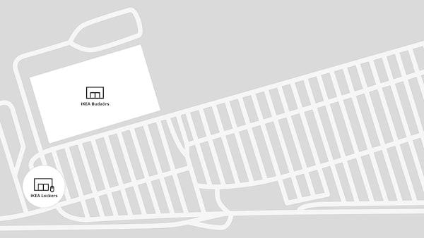 IKEA Budaörs térkép.