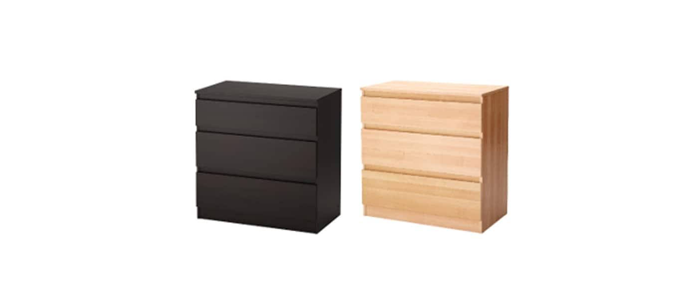 IKEA Canada recalls the KULLEN 3-drawer chest