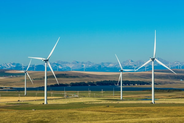 IKEA Canada wind farm in Pincher Creek, Alberta .