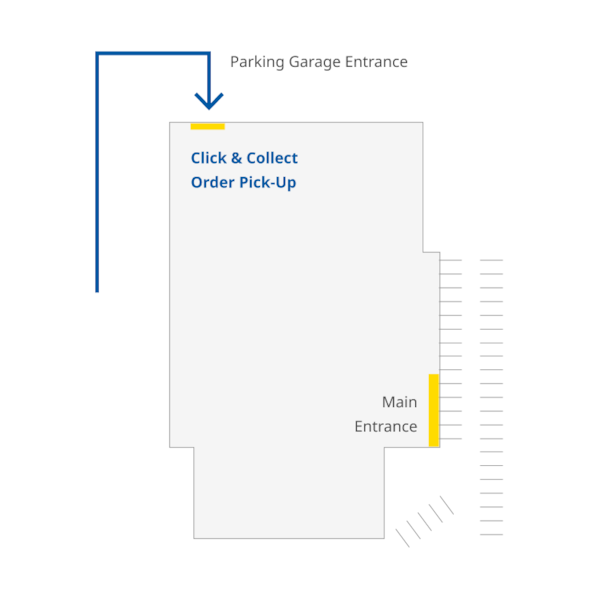 IKEA Centennial store map to click and collect pick-up location