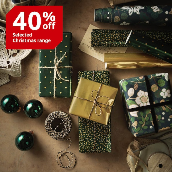 IKEA Christmas decoration decor presents gifts wrapping
