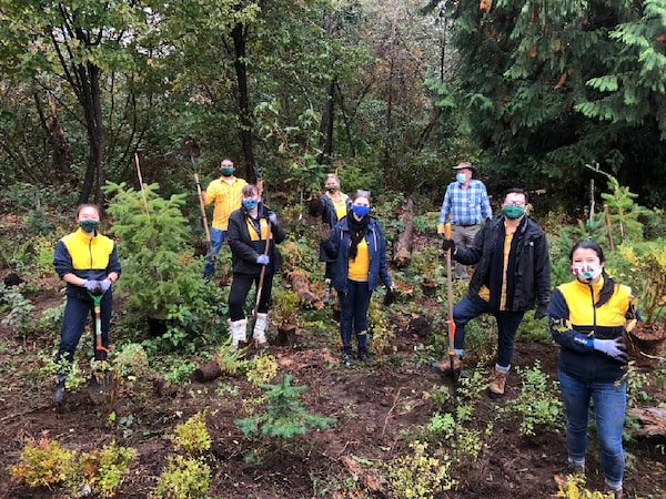 IKEA Coquitlam and Richmond co-workers planting trees.
