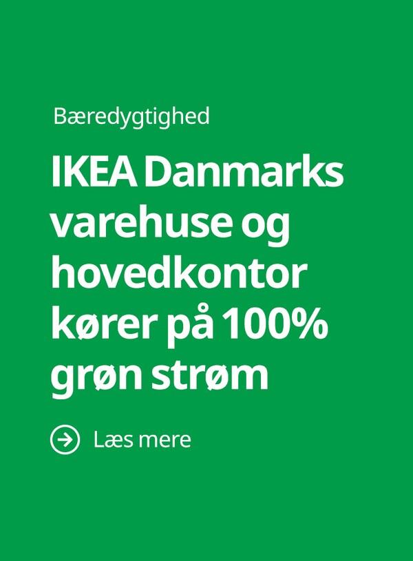 IKEA Danmarks varehuse og hovedkontor kører på 100% grøn strøm
