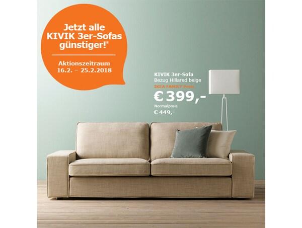 Ikea Family Angebot Kivik 3er Sofas Ikea