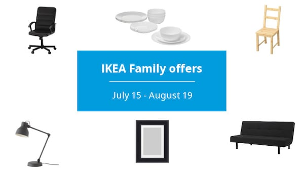 IKEA Family back to school offers. July 15 - August 19.