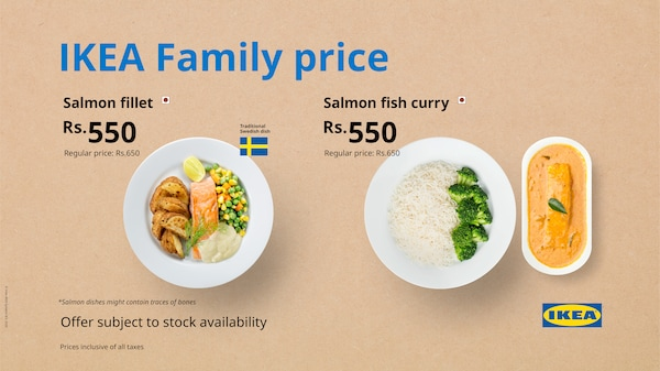 IKEA family offer on salmon fillet and curry