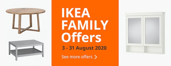 IKEA FAMILY Offers 3 - 31 August 2020