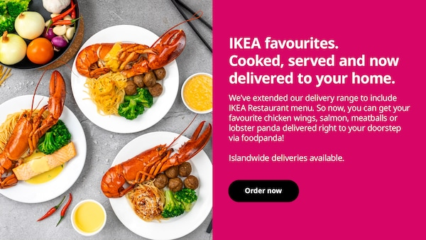 IKEA faovuirtes. Cooked, served and now delivered to your home.