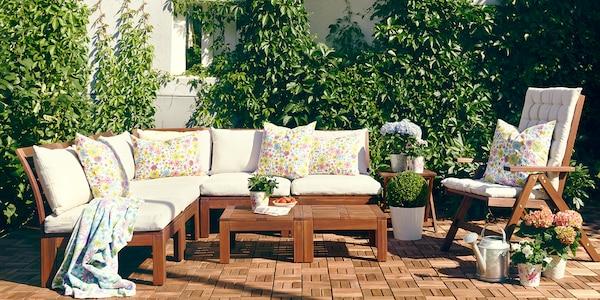 IKEA Gartenmöbel Sitzauflagen, ÄPPLARÖ Serie