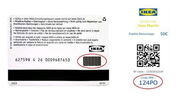 IKEA Geschenkkarte Pin Code