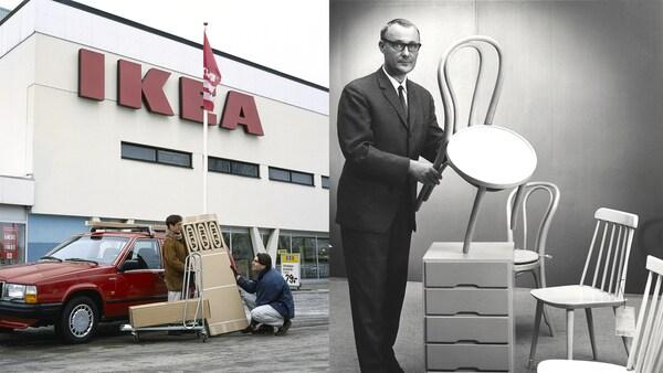 IKEA grundades i Älmhult i Småland, men finns nu i hela världen. IKEAloggan är gul och blå precis som den svenska flaggan.