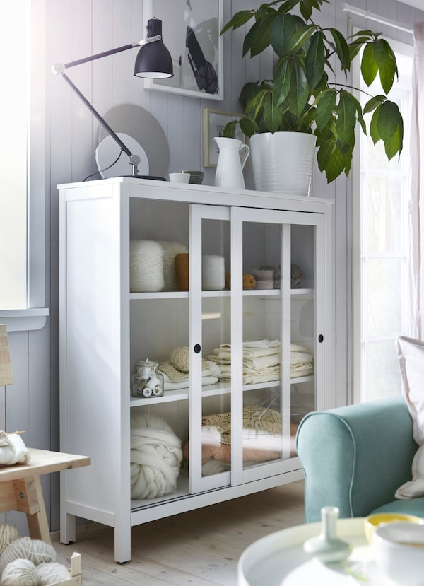 serenity in a small living room  ikea