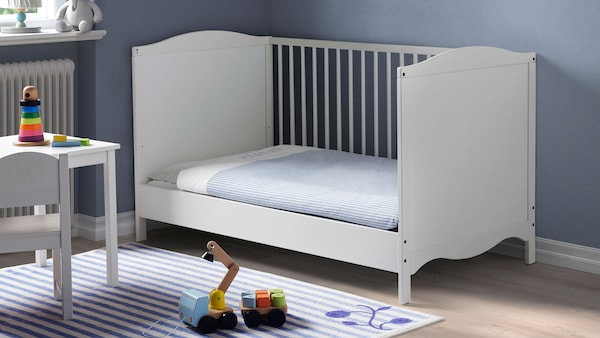 IKEA Home Furnishings, featuring the SMÅGÖRA cot for babies, white