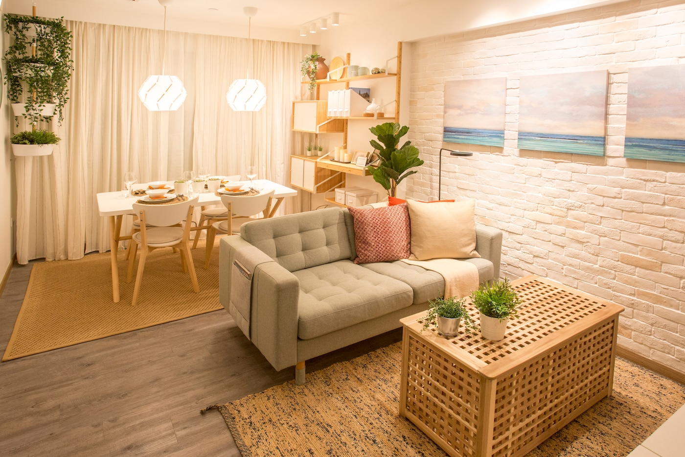 IKEA Home Furnishings takes on a 2 Room HDB Flat (Resort Theme) in Singapore.