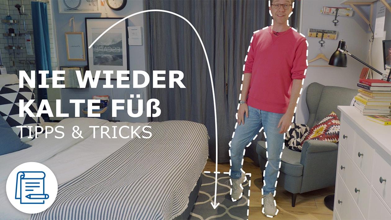 IKEA Interior Designer Michael gibt Tipps zum passenden Teppich für Esszimmer, Schlafzimmer und Flur.