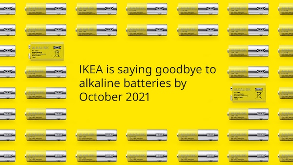 IKEA is saying goodbye to alkaline batteries by October 2021