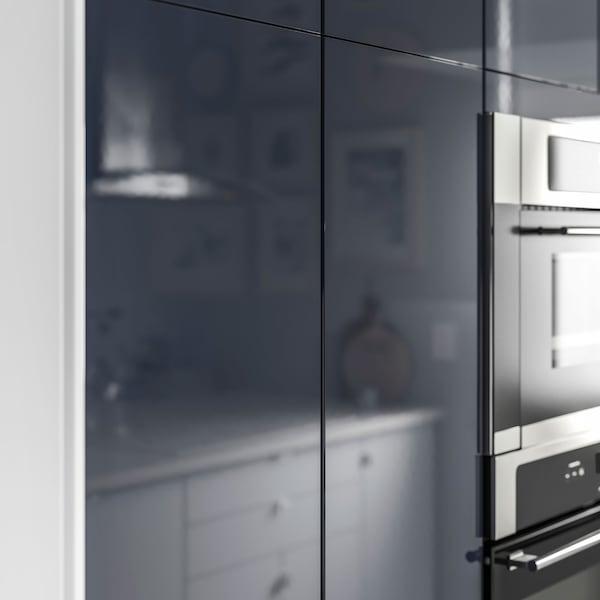 IKEA JÄRSTA black blue front cabinet doors closeup.