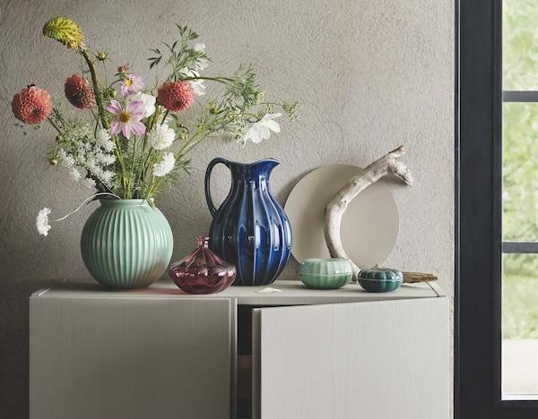 IKEA kevään uutuudet maljakot ja keramiikkaesineet.