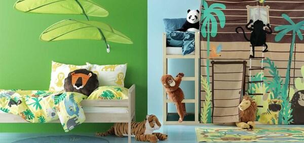 IKEA Kinderzimmer DJUNGELSKOG Kollektion