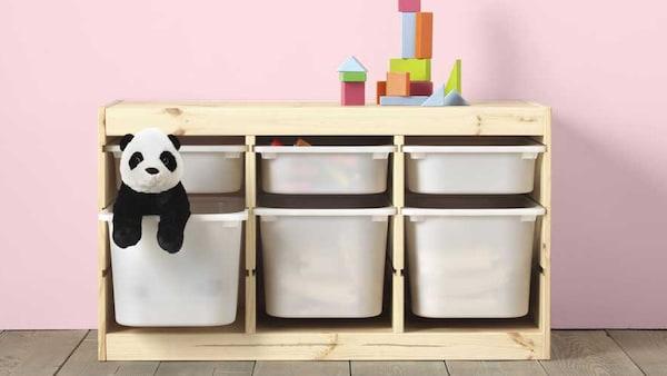 IKEA Kinderzimmer TROFAST Spielzeugaufbewahrungsserie