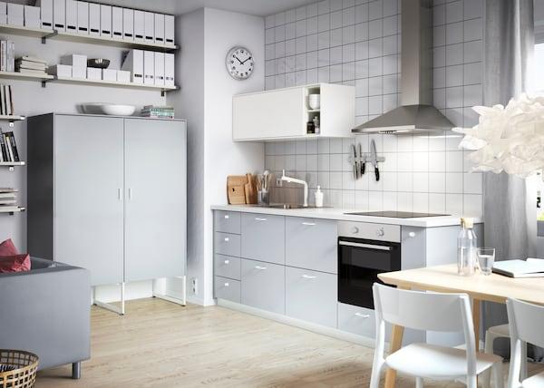 bilder av veddinge kjøkken i grå  ikea