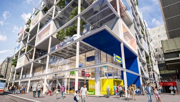 IKEA kommt in die Wiener Innenstadt und eröffnet sein neues Einrichtungshaus im Jahr 2021.