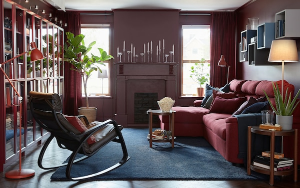 A red living room - IKEA