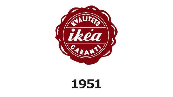 IKEA logo v roce 1951.