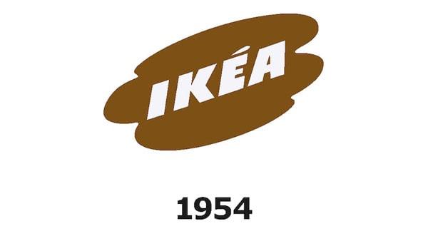 IKEA logo v roce 1954.