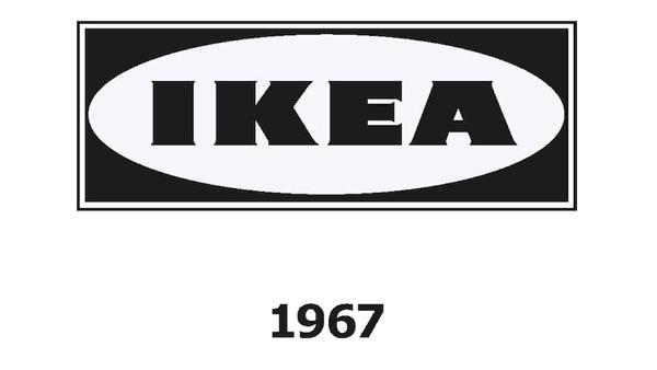 IKEA logo v roce 1967.