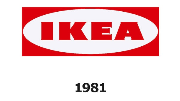 IKEA logo v roce 1981.