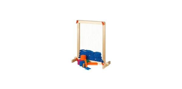 IKEA LUSTIGT plywood weaving loom