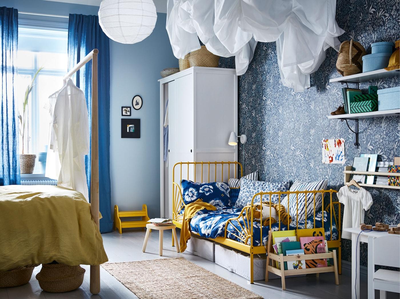 IKEA MINNEN kinderbed babybed kinderkledingkasten kinderkamerverlichting kinderkamer