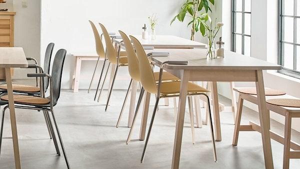 IKEA NORRÅKER series, durable solid birch furniture.