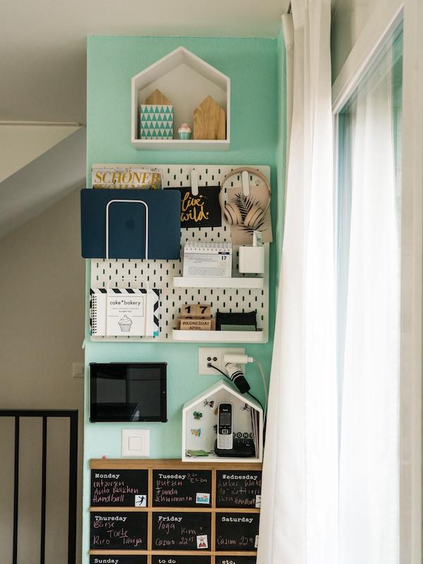 IKEA Ordnungssystem für die ganze Familie in der Küche.