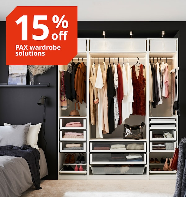 IKEA PAX custom flat pack wardrobe sale