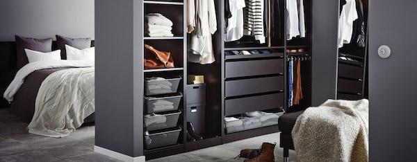 IKEA PAX kledingkast zwart 250 cm