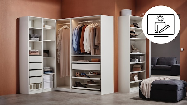 IKEA PAX Kleiderschrank in einem Schlafzimmer