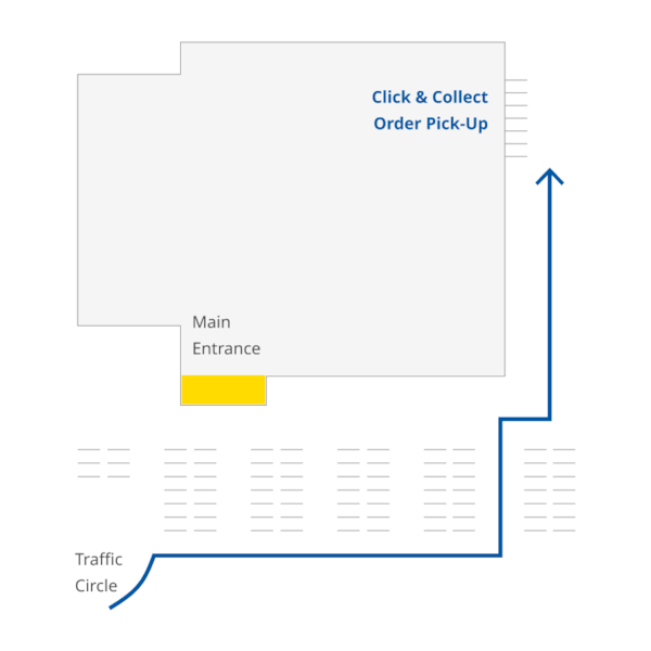 IKEA Portland store map to click and collect pick-up location