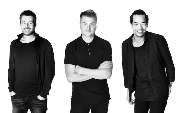 IKEA product designers Andreas Fredriksson, Jonas Hultqvist and Willy Chong.