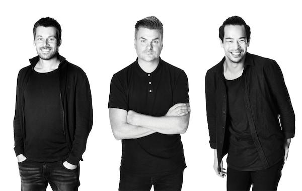 IKEA Produktdesigner Andreas Fredriksson, Jonas Hultqvist und Willy Chong.