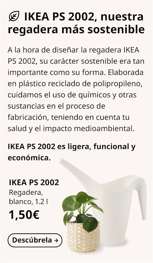 IKEA PS 2002 Regadera, blanco, 1.2 l
