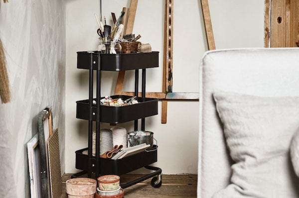 IKEA RÅSKOG Carrinho preto