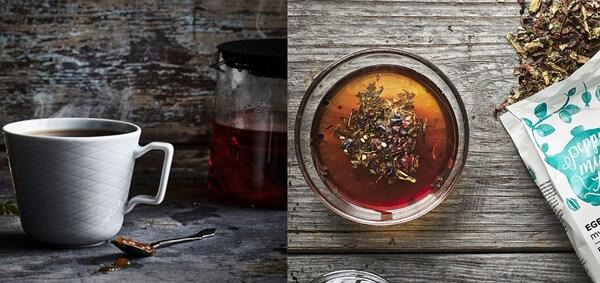 rooibuschtee und kakao minze teesirup