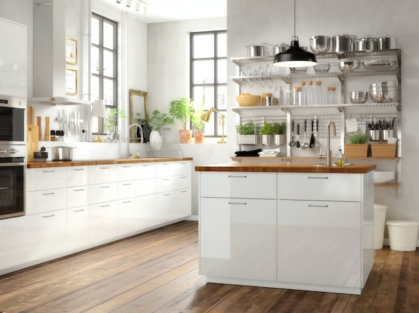 IKEA RINGHULT kitchen interior.